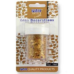 Purpurina comestible copos oro, PME