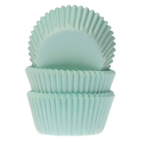 Cápsulas mini cupcakes color verde HM, Pack 60 u.