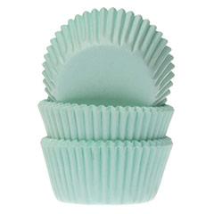 Cápsulas mini cupcakes color verde HM, Pack 60 u.