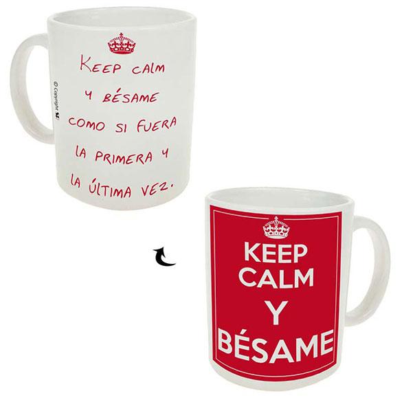 Taza Keep Calm Bésame