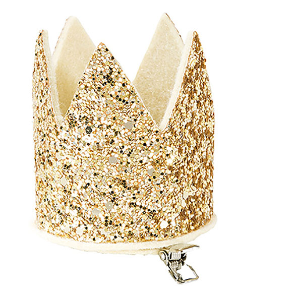 Corona mini infantil dorada