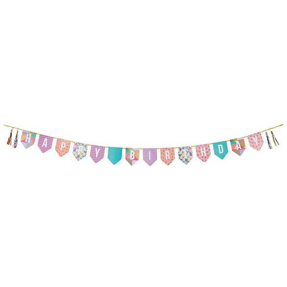 Guirnalda Happy Birthday, banderines