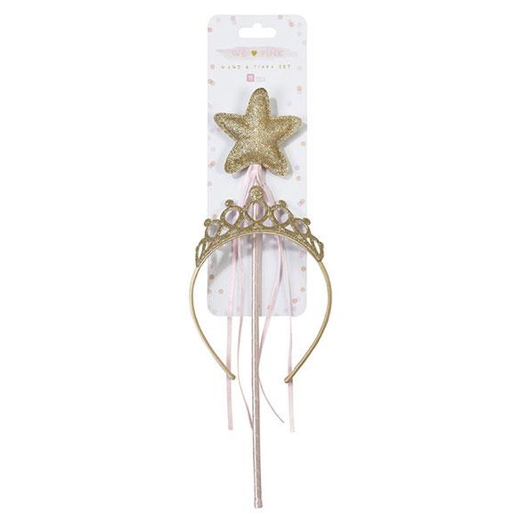 Diadema con varita mágica
