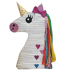 Piñata artesana Cabeza Unicornio