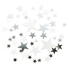Confeti papel foto estrellas plateadas