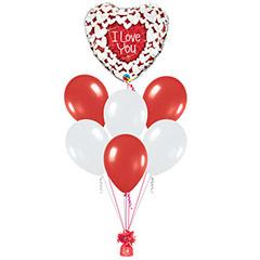 Ramo de Globos I Love You Corazón