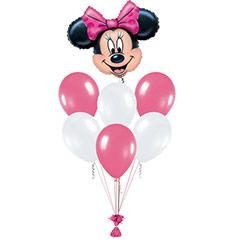 Ramo de Globos Cara Minnie Mouse