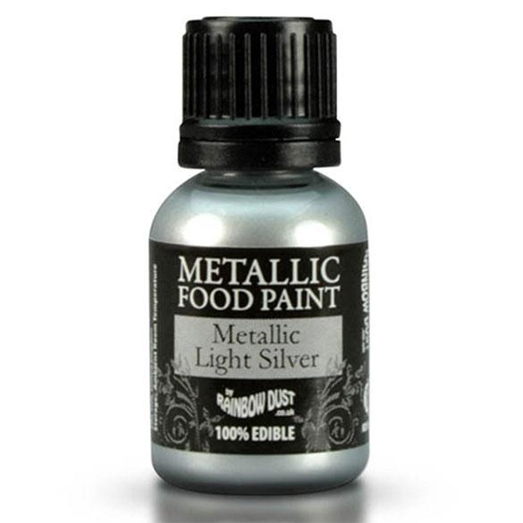 Pintura comestible plata metalizada Rainbow Dust