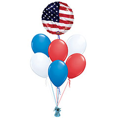 Ramo de Globos Bandera USA redondo