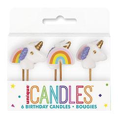 Velas cumpleaños Unicornio, Pack 5 u