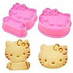 Cortadores forma de cabeza y cuerpo de Hello Kitty, Set 2 u.