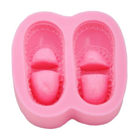 Molde silicona zapatos bebé para fondant