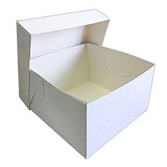 Caja de cartón blanca para tartas 30 x 30 x 30 cm