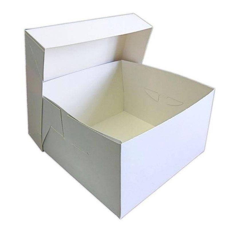 Caja de cartón blanca para tartas 35 x 35 x 30 cm