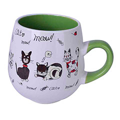Taza bicolor gatos