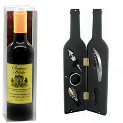 Estuche de vino con forma de botella