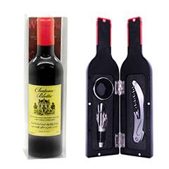 Estuche 3 herramientas con forma de botella de vino