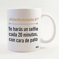 Taza Te harás un selfie cada 20 minutos siempre con cara de pato