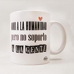 Taza Amo a humanidad, pero no soporto a la gente