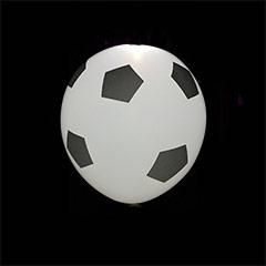 Globos luz Led balón de fútbol, Pack 4 u.