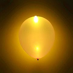 Globos luz Led color Oro, Pack 5 u.