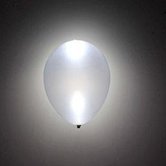 Globos luz Led color Plata, Pack 5 u.
