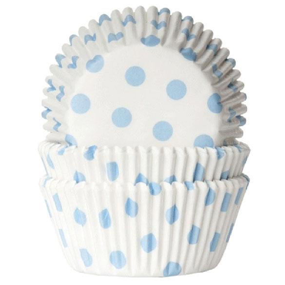 Cápsulas cupcakes blancas lunares celestes HM, Pack 50 u.