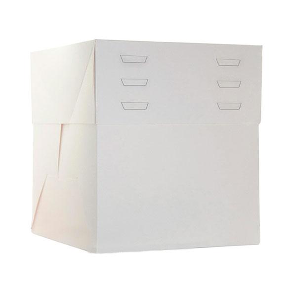 Caja de cartón blanca para tartas 25 x 25 x 30 cm