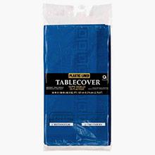 Mantel liso azul 274 x 137 cm impermeable, Pack 1 u. - Ítem1