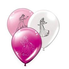 Globos de Látex Princesas Disney colores surtidos. Pack de 8 globos - Ítem2