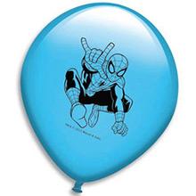 Globos de Látex Spiderman colores surtidos. Pack 8 unidades - Ítem1