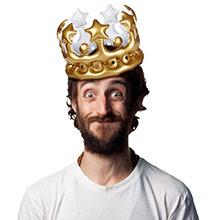 Corona Rey por un día inflable - Ítem1