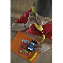 Auricular retro Pop Phone amarillo para iPhones, iPads y Smartphones - Ítem1