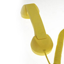 Auricular retro Pop Phone amarillo para iPhones, iPads y Smartphones - Ítem3