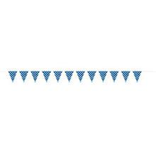 Guirnalda azul con lunares blancos de plástico - Ítem1
