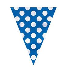 Guirnalda azul con lunares blancos de plástico - Ítem2