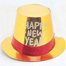 Chistera de cartón Happy New Year metalizada de colores - Ítem2