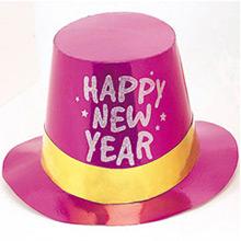 Chistera de cartón Happy New Year metalizada de colores - Ítem3