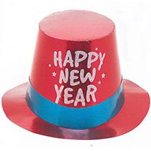 Chistera de cartón Happy New Year metalizada de colores - Ítem5