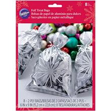 Bolsas metalizadas copos de nieve golosinas y galletas, Pack 20 u. - Ítem1