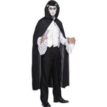 Capa negra con capucha adulto - Ítem1