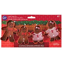 Cortadores galletas Muñecos de Jengibre Wilton, Set 4 u. - Ítem1