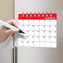 Pizarra magnética calendario mensual con rotulador - Ítem1