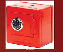 Hucha caja fuerte roja - Ítem1