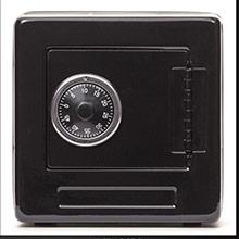 Hucha caja fuerte negra - Ítem1