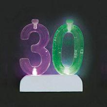 Soporte para vela cumpleaños nº 30 con luz - Ítem1