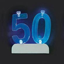 Soporte para vela cumpleaños nº 50 con luz - Ítem1