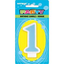 Vela cumpleaños número 1 celeste - Ítem1
