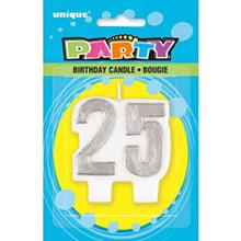Vela aniversario 25 años - Ítem1
