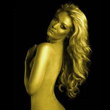 Spray cuerpo y pelo purpurina dorado - Ítem1